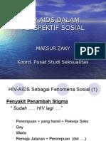 Hiv Aids Dalam Perspektif Sosial
