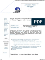 Quitar La Caducidad de Las Contraseñas en Oracle 11g Para Todos Los Usuarios Proyecto AjpdSoft