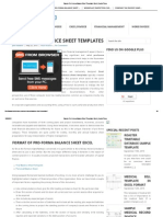 Sample Pro Forma Balance Sheet Templates Excel _ InvoiceTemp