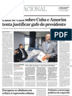 Lula constrange esquerda ao defender ditadura de Cuba