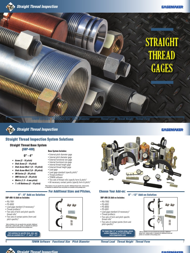 Straight Thread Gages