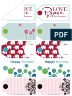 Polka Dot Prints Celebration Tags