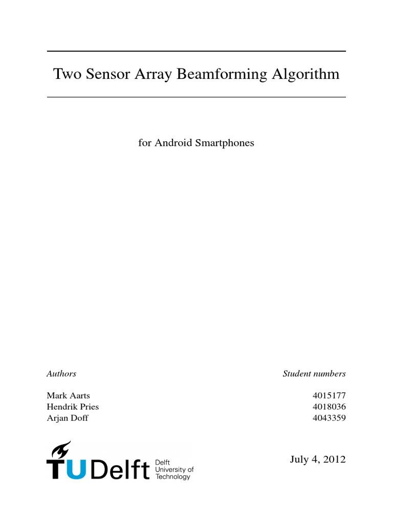 Two Sensor Beamforming Algorithm | Microphone | Spectral Density