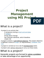 Project Management Using MS Project