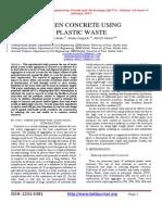 Green Concrete Using Plastic Waste1
