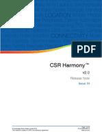 CSR Harmony 2.0 Software Release Note
