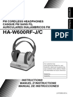 JVC HA-W600RF Headphones User Manual