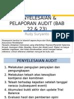 Penyelesaian Pelaporan Audit