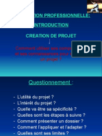 Creation d'un projet