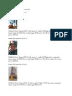 Diesel Pile Hammer D80 to D200