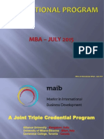 MAIB + IBM + AU MBA Presentation (MBA - July 2015 Batch)