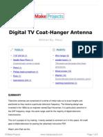 Digital TV Coat-Hanger Antenna