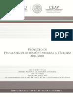 Proyecto de Programa de Atención Integral a Víctimas 2014 - 2018 - PAIV-20150415