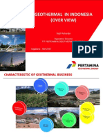 Geothermal in Indonesia Overview Pge 2013