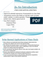 Seminar on nano fluid based solar thermal systems