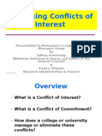 chapter 5 ConflictsOfInterestPresentationToRPI_sBusinessManagers.ppt