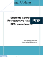 Note on Retrospective Nature of SEBI Amendments