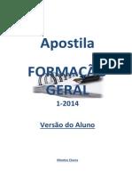 Apostila de Formação Geral Aluno Versão 1 2014