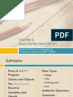 Week4_Chap3 -Basic C++