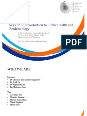 SPH2101 Module Introduction | Public Health | Epidemiology