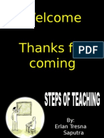 step of teaching