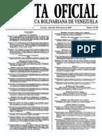 Sumario Gaceta Oficial 39.383
