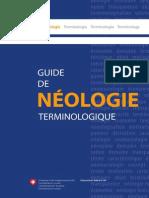 Guide de Néologie Terminologique