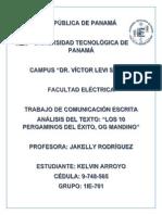 COMUNICACIÓN ESCRITA - OGCOMUNICACIÓN ESCRITA - OG MANDINO 10 PERGAMINOS (TRABAJO ESCRITO) MANDINO 10 PERGAMINOS (TRABAJO ESCRITO).pdf