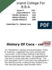 Ppt of Coca - Colaooo