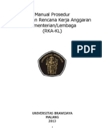 Manual Prosedur RKA KL