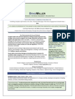 Director Investor Relations Communications in USA Resume Brad Miller