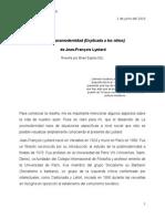 La Posmodernidad La posmodernidad (Explicada a los niños)  de Jean-François Lyotard Reseña por Brian Espitia Gtz.