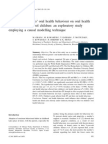 Influence of Parents' Oral Health