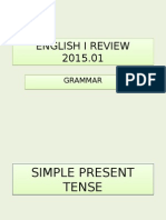 English 1 Grammar Review 2015.01