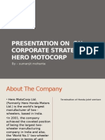 Presentation on on Corporate Strategy of Hero Motocorpby Sumanjit