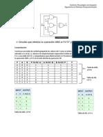 Circuito que efectúa la operación AND si P=0 y OR si P=1 [Comprobración]