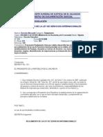 Reglamento de La Ley de Servicios Internacionales