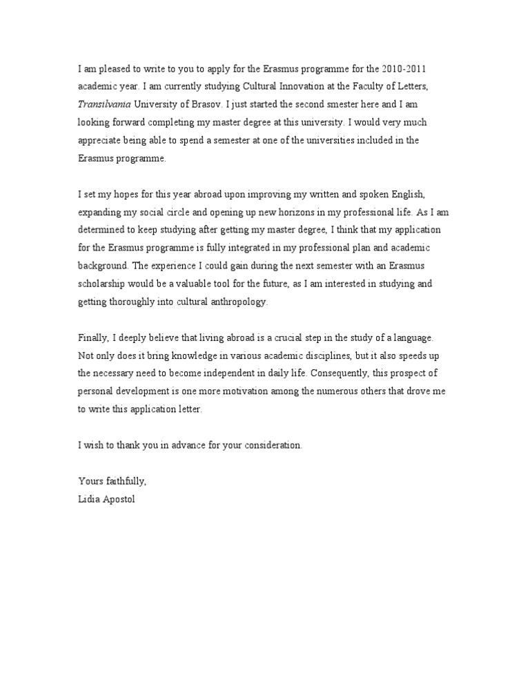 the best cover letter for job application