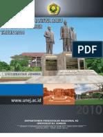 Buku Panduan Penerimaan Mahasiswa Baru Universitas Jember Tahun 2010