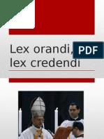 Lex Orandi y Lex Crededi