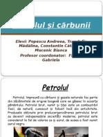 Petrolul Si Carbunii