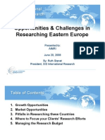 Eastern Europe Market and Country Profile - SIS International Research