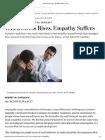 When Stress Rises, Empathy Suffers - WSJ.pdf