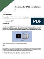 Ensamblaje Del Ordenador Pc Instalacion Del Procesador