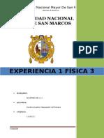 INFORME 1 de F3- Cargas Electricas y Cuerpos Electrizados