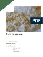 Pollo en Crema