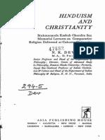 Hinduism and Christianity by Devaraj