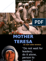 Mother Teresa Ppt 2