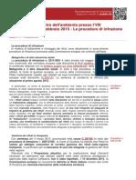 RIFIUTI 2015 AUDIZIONE MINISTRO PROCEDURE INFRAZIONI EUROPEA OCD177-963