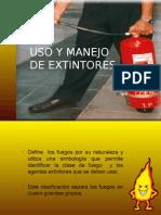 Uso y Manejo de Extintores Portatiles